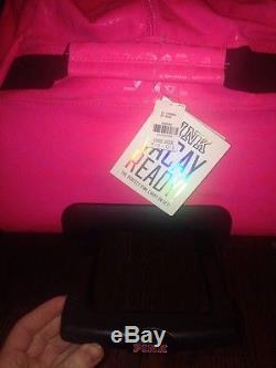 Victorias Secret Pink Aztec 3-Piece Travel Set Luggage Wheelie Duffle Suitcase