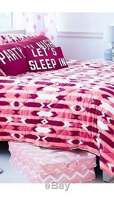 Victorias Secret Pink Berry Ikat Comforter Pillow Case Body Pillow Bedding Set