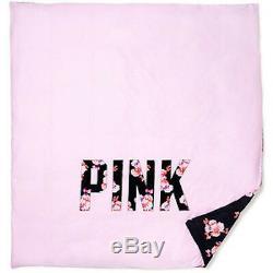 Victorias Secret Pink Black Rose Floral Duvet Comforter Cover Twin XL Dorm NWT