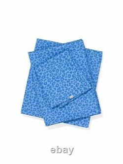 Victorias Secret Pink Blue LEOPARD Sheet Set Twin XL NWT