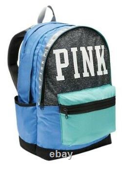 Victorias Secret Pink Collegiate Campus Multicolor Logo Backpack Full Size