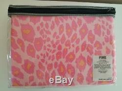 Victorias Secret Pink Full/Queen Cheetah Print Duvet New
