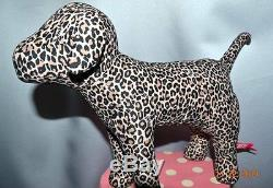 Victorias Secret Pink GIANT 10 x 13 Mini Giant Dog Limited Edition Leopard NWT