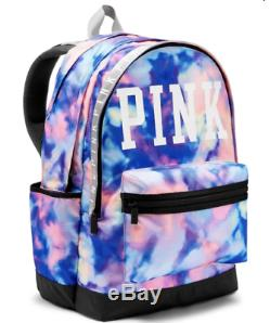 Victorias Secret Pink GRAPHIC TIE DYE Large Full Size CAMPUS Backpack NWT