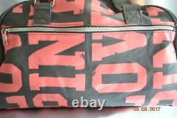 Victorias Secret Pink GRAPHIC Tote Bag Duffle Carry On Gym Bag Luggage NWT