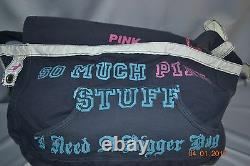 Victorias Secret Pink Graphic X LARGE Duffle Bag Carrie On Luggage RARE NWT