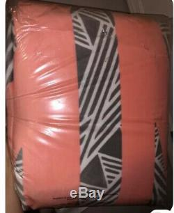 Victorias Secret Pink Gray /peach Aztec Sherpa 60x72 Rare Sherpa Blanket Nip
