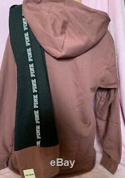 Victorias Secret Pink Hoodie & Legging outfit OVERSIZED L/XL Cocoa powder NWT