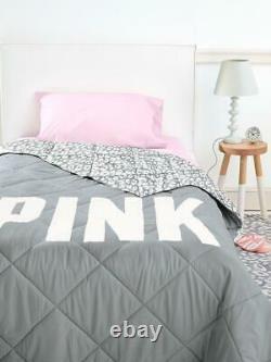 Victorias Secret Pink LEOPARD Comforter Pillow Case Sheet Set Twin Brand New