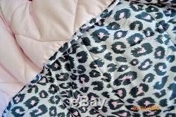Victorias Secret Pink LEOPARD Comforter Pillow Case Sheet Set Twin XL NWT