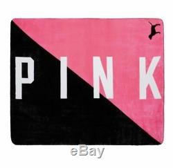 Victorias Secret Pink LIMITED Sherpa XL LIM ED Plush Throw Blanket NWT