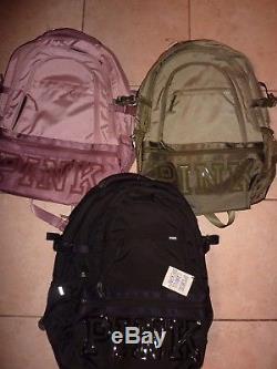 Victorias Secret Pink Large Collegiate Backpack Zip Book Laptop Nwt