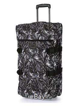 Victorias Secret Pink Large Palm Fern Luggage Wheelie Suitcase Duffle Bag NWT
