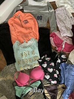 Victorias Secret Pink Lot Womens Medium M Hoodie Tanks Yoga Sweatpants 35+