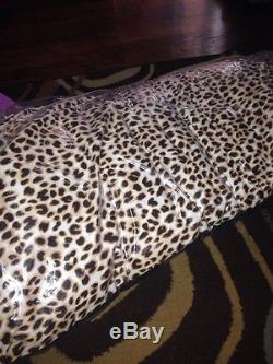 Victorias Secret Pink Love Pink Graphic Logo Leopard Print Body Pillow Dorm Nip