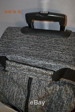 Victorias Secret Pink MARL 3 Pc Wheelie Luggage Set Suitcase Carry On Duffle Bag