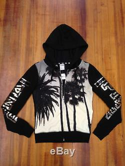 Victorias Secret Pink Palm Trees Sequins Bling Fashion Show Hoodie NWT XS