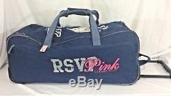Victorias Secret Pink RARE A-LISTER LG Luggage Wheelie Suitcase Duffle Bag NWT