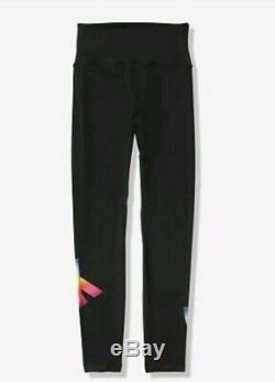Victorias Secret Pink Sherpa reversible Hoodie+RAINBOW V. S Leggings-Large Set
