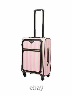 Victorias Secret Pink Signature Stripe Luggage and Getaway Overnight Bag New