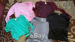 Victorias Secret Pink Sz Small Lot Of 24 Shirts Tanks Leggings Long Sleeve Short