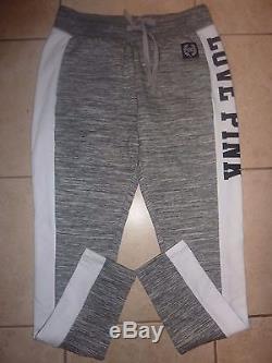 Victorias Secret Pinkpink Marled Applique Sweatshirt Pant Set Or Separates Nwt