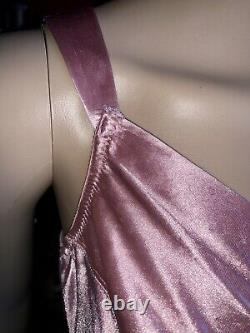 Vintage Victoria Secret Dusty Pink Rose Shiny Second Skin Satin Bra 38D Sissy