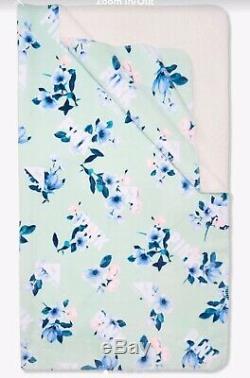 Vs Victoria Secret Pink Sherpa Blanket Blue Floral 2019 New Release