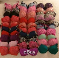 Vs Victoria's Secret Pink Wholesale Lot New Push Up Bras Bra 30pc Authentic