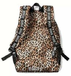 Vs Victorias Secret Pink Campus Backpack Tote Bag Leopard Cheetah
